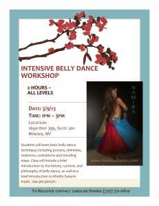 Now is your chance to get a jump start on Learning how to Belly dance!